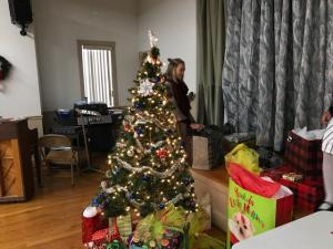Julia puts finishing touches on Adopt A Family presents